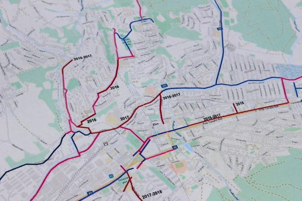 Mapa Cyklostezky Zlin Mapa